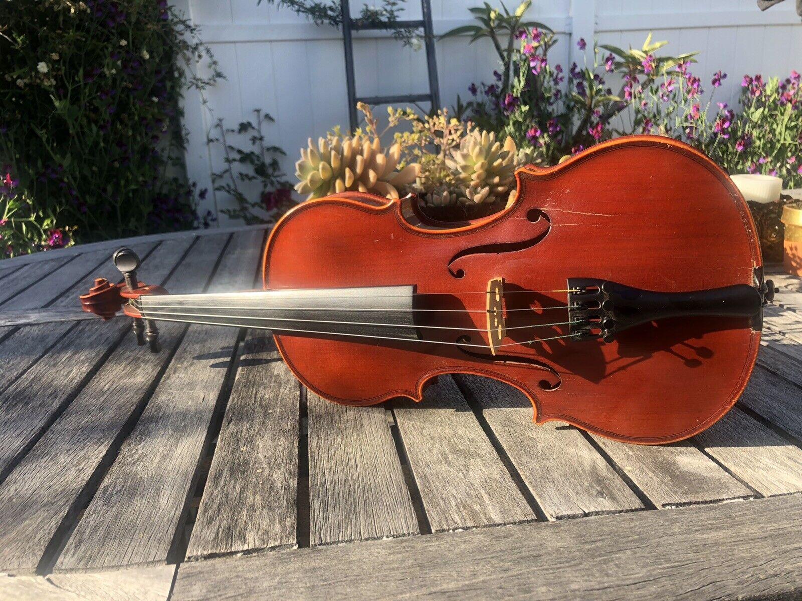 Vintage Violin Made In German Democratic Republic