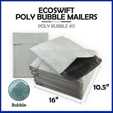 1 5 105x16 Poly Bubble Mailers Padded Envelope Shipping Supply Bags 105 X 16