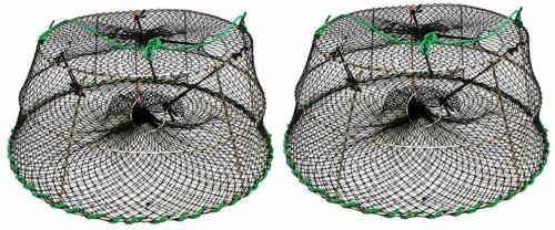 2-Pack of KUFA Sports Tower Style Stainless Steel Prawn trap CT77x2