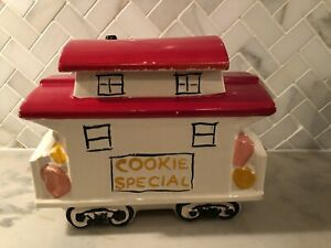 "Vintage McCoy Pottery ""Cookie Express"" Caboose Cookie Jar 