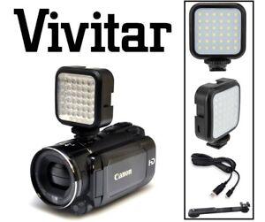 Nuevo Led Luz De Vídeo Para Canon Vixia Hv40 Ebay