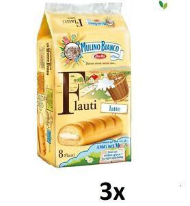 24x-Mulino-Bianco-Kuchen-biscuits-kekse-cookies-Riegel-mit-Milch-Flauti-840gr