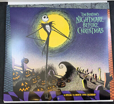 The Nightmare Before Christmas - 2020 Wall Calendar Tim Burton's Nightmare Before Christmas 1994 Calendar RARE FREE