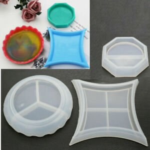 Round Coaster Resin Casting Mold Silicone Jewelry Agate Making Mould Tool Craft