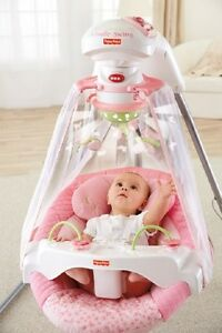 FISHER-PRICE-SWING-Pink-Cradle-Rocker-Infant-Baby-Girl-Sleep-Nap-Play-Music-NEW