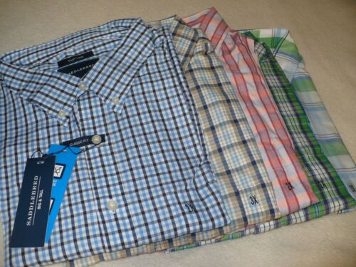 NEW NWT SADDLEBRED MEN/'S BUTTON FRONT SHIRT BIG /& TALL SIZE 2XLT 3XLT 2X 3X 4X