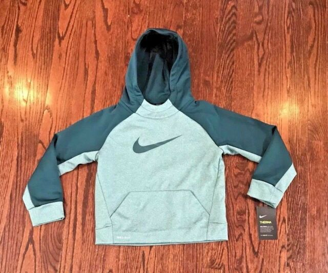 f3a390079305 NWT Nike Boy s Therma Swoosh Graphic Pullover Hoodie Boy s Size 7 86B212  Green