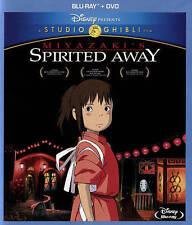 Spirited Away (Blu-ray/DVD, 2015, 2-Disc Set) BRAND NEW!! Hayao Miyazaki