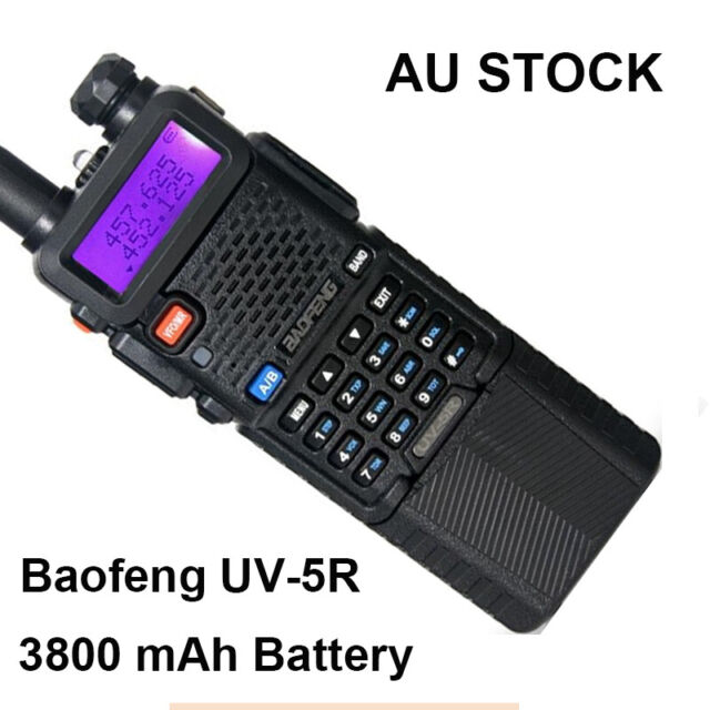 BaoFeng UV-5R UHF/VHF Two Way Radio FM 3800mah Battery Walkies Talkie AU Stock