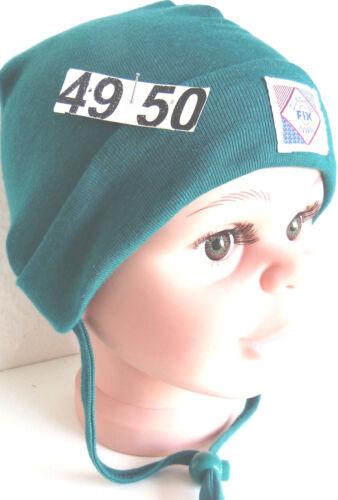 sensible-Haut-Mütze KU49 50 51 52 53 54 binden Frühling Übergang Kind Junge grün