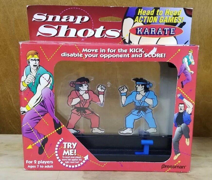 Vintage Pressman Snap Shots Karate Head To Head Game NOS