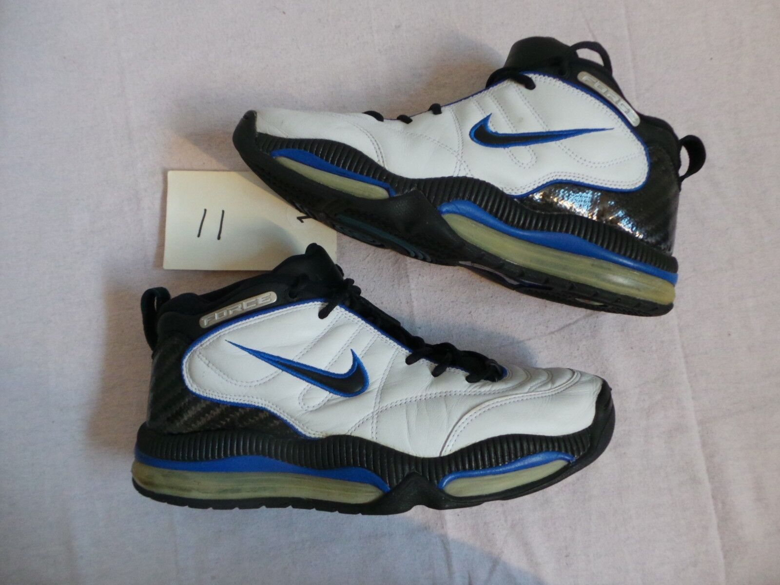 Nike Air Total Aggress Force 90s s 11 OG Vintage 90s Force Original black royal white RARE 0b1107