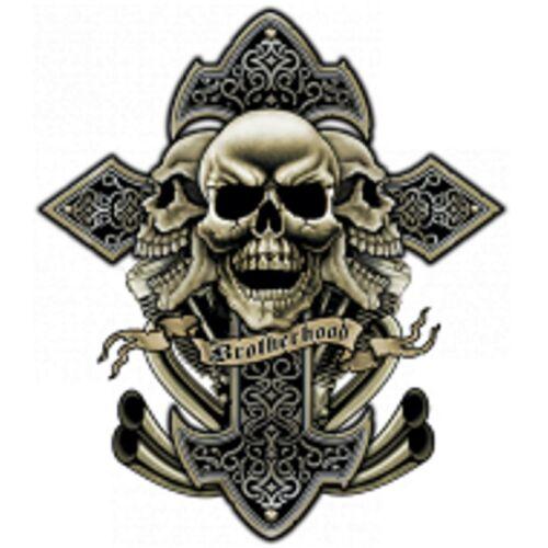 Grau Worker Modell Shirt Brotherhood Mit gothikmotiv Einemtattoo vv5rw8