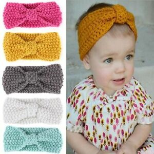 Cute-Girls-Kids-Baby-Toddler-Crochet-Bow-Headband-Hair-Band-Accessories-Headwear