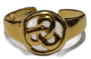 Toe Ring Adjustable Celtic Design Gold Plated over 925 Sterling Silver # 22