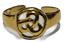 thumbnail 1 - Toe Ring Adjustable Celtic Design Gold Plated over 925 Sterling Silver # 22
