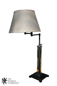 Restoration Hardware French Column Adjustable Swing Arm Table Lamp