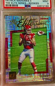 2017-Patrick-Mahomes-ROOKIE-Panini-Donruss-The-Elite-Series-RC-PSA-9-MINT
