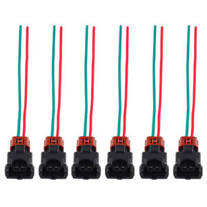 Details about 6x Fuel Injector Connector Wiring Harness For Nissan on