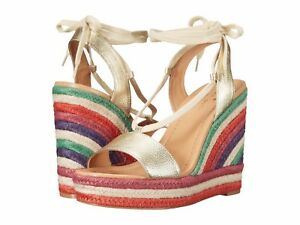 725e71410a1 Kate Spade New York Daisy Too Multicolor Wedge Platform Gold Leather ...