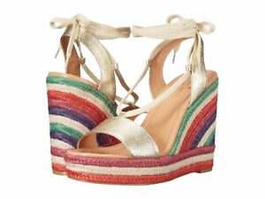 36daa28ef4db Kate Spade New York Daisy Too Multicolor Wedge Platform Gold Leather ...