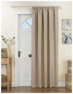 Door Curtain Panel Thermal Thick Heavy Natural Beige Lined 66 X 84 Inches Ebay