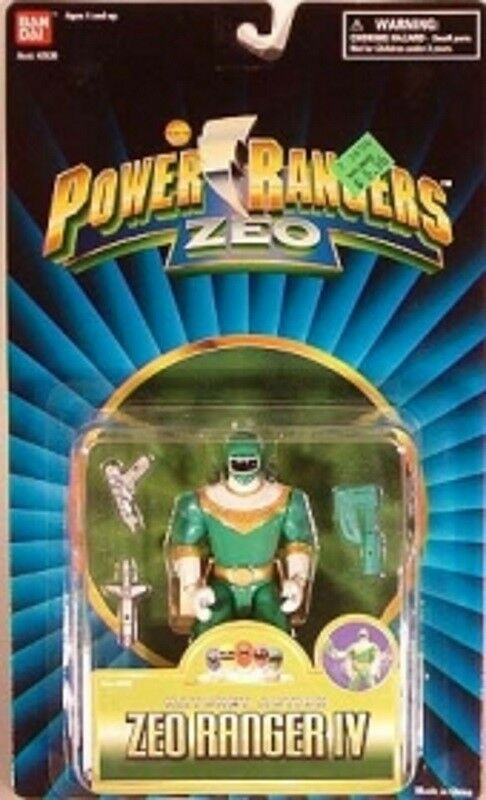 Power Rangers Zeo 5    Green Ranger IV With Hatchet Action Feature By Bandai (MOC) 9b798b