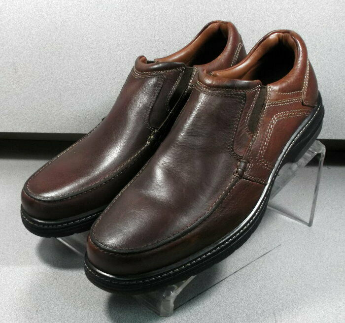 251073 ES50 Men's shoes Size 11 M Brown Leather Slip On Johnston & Murphy