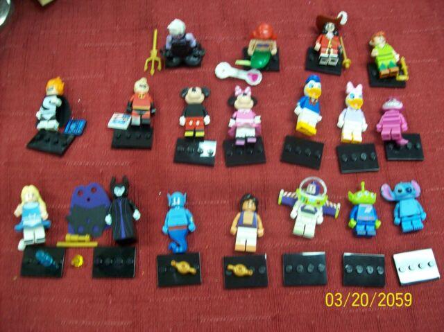 LEGO 2016 DISNEY MINIFIGURES SERIES 1 COMPLETE SET OF 18 VERIFIED NEW