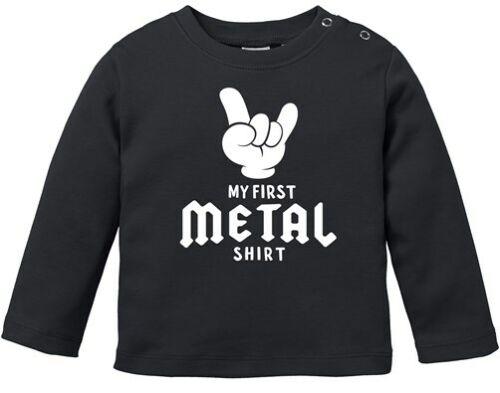 Baby Langarmshirt Babyshirt My First Metal Shirt Hardrock Heavy Metal Jungen
