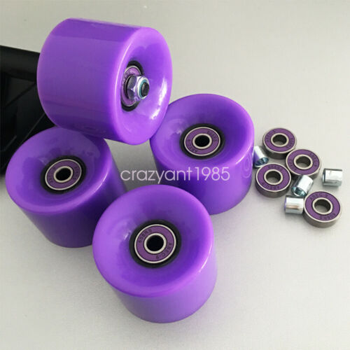 60mm Skateboard Longboard Cruiser Wheels 78A  ABEC-9 Bearing Steel  Spacers Set