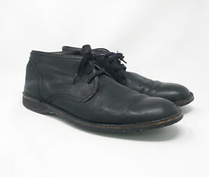 John Varvatos - Men's Black Leather Casual Ankle Boots - Size 12 M