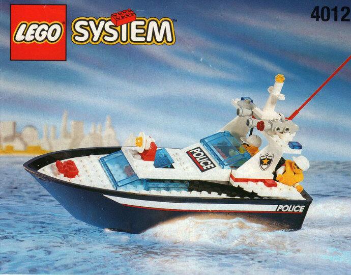 Onda Lego barco de la policía 4012 policías Nuevo Sellado