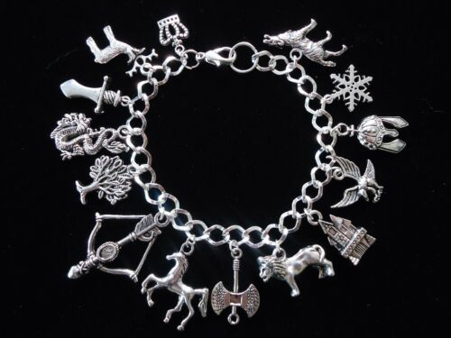 GAME OF THRONES CHARM BRACELET 16TH,18TH OR 21ST BIRTHDAY GIFT WITH GIFT BOX.