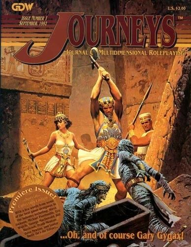 JOURNEYS ISSUE GDW Multidimensional Fantasy Roleplaying Game Gygax Journal