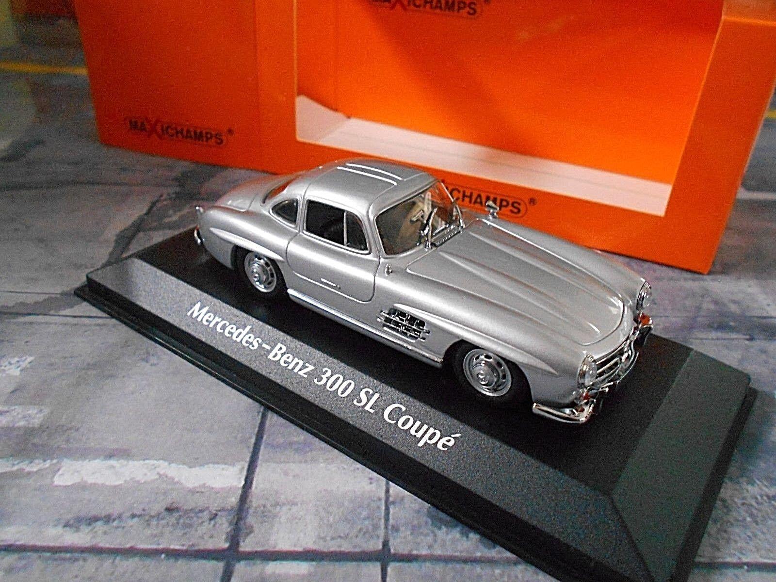 Mercedes Benz 300sl 300 Sl Coupé w198 argent 1955 maxichamps MINICHAMPS 1 43