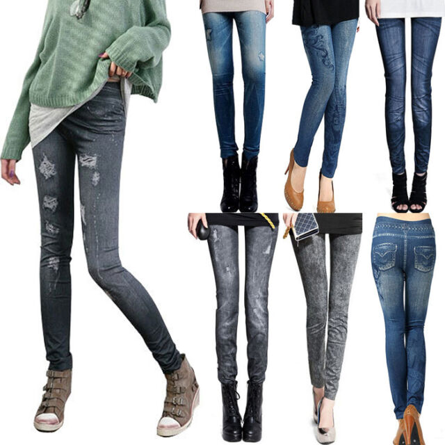 2017 New Sexy Women Jeans Skinny Jeggings Stretchy Slim Leggings Skinny Pants