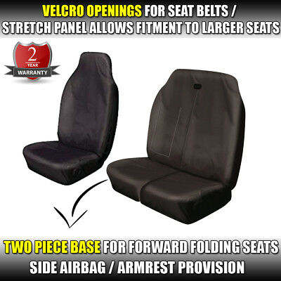 MERCEDES SPRINTER VAN SEAT COVERS 2010 ON FRONT SEATS BLACK