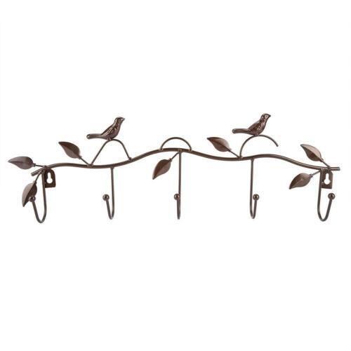 Wall Hang Iron Hook Vintage Bird Antler Animal Style Hanger Wall Hanging Decor