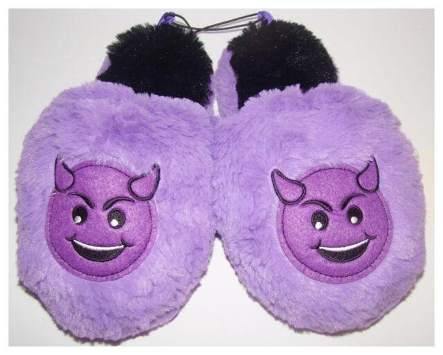 Emoji Fuzzy Slippers Girls Youth Size