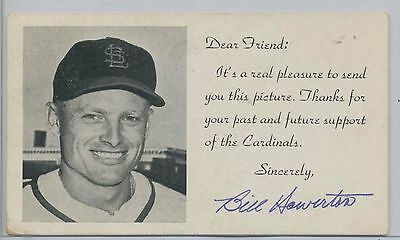 "Official Website 1950 St Balls Louis Cardinals ""dear Friend"" Postcard Bill Howerton Autographed Careful Calculation And Strict Budgeting"