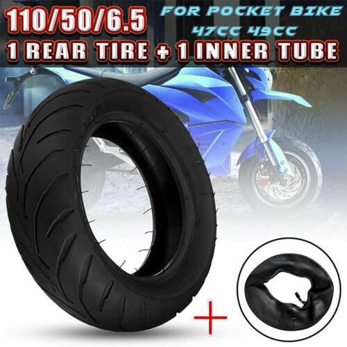 Front Rear Tire+Inner Tube 90//65//6.5 110//50//6.5 For 47cc 49cc Mini Pocket BikeXS