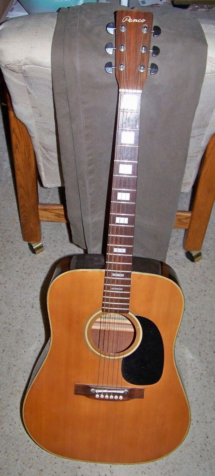 1970's Penco Full Größe Acoustic Guitar Vintage Japan
