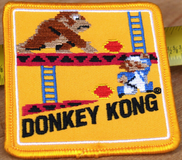 Nintendo Vintage Original Mario Luigi Donkey Kong Patch - Very Rare!  NEW