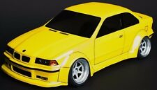 1/10 RC Car DRIFT Body Shell  BMW E36 M3 Wide Body 195MM Body w/ Light Buckets
