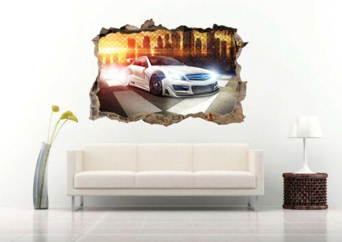 Luxury Sport Car 3D Wall Decal Removable Vinyl Sticker Mural Wall Art Decor