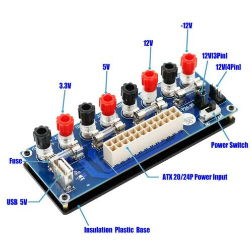 24 Pins ATX Benchtop Board Computer PC Power Supply Breakout Adapter Module