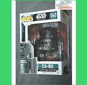 MINT BOX C2-B5 #147 FUNKO POP FIGURE VINYL STAR WARS ROGUE ONE