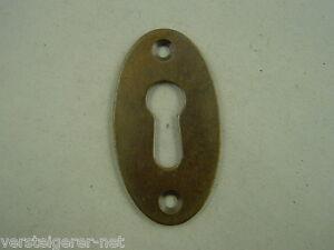 Schlüssellochblende Kupfer Beschlag Dauerhafte Modellierung Schlüssellochbeschlag 50er Jahre Oval