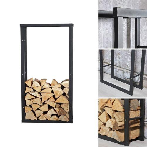 100x60cm bois de cheminée Support Bois De Chauffage étagère bois de cheminée-papiers Corbeille à Bois en bois étagère